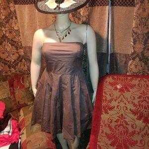 Strapless plus size A line dress